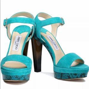 Jimmy Choo Dora suede platform sandals 7,5